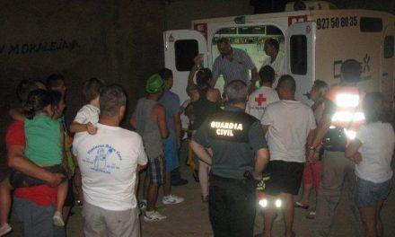 Un aficionado de 44 años resulta herido con una cornada en la lidia de la vaca de las fiestas de Moraleja