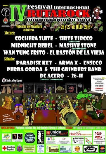 """El Festival RutaRock """"Contrabando de Café"""" arranca este viernes con la actuación de """"Cochera Suite"""""""
