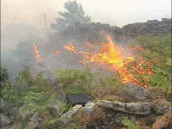 El Infoex desactiva el Nivel 1 del incendio declarado en Valverde del Fresno tras quedar controlado