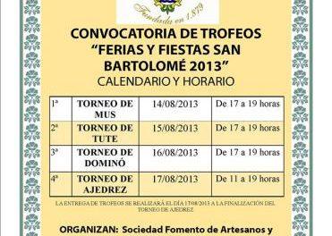 La Sociedad de Fomento de Artesanos organiza cuatro torneos para las fiestas de Valencia de Alcántara