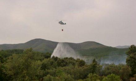 Declarado de Nivel 1 un incendio forestal en la zona del castillo de Pinofranqueado