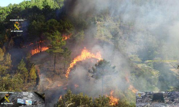 Detenido un vecino de Pinofranqueado como presunto autor del incendio en El Castillo y Las Erías