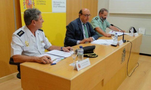 El delegado del Gobierno en Extremadura anuncia que la región cumple un año y medio como la más segura
