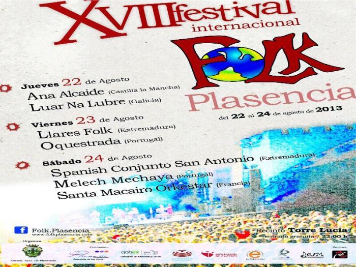 Luar Na Lubre y Ana Alcaide abren este jueves el XVII Festival Internacional del FolK de Plasencia