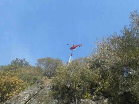 Desactivado el Nivel 1 del incendio de Santibáñez el Alto que ha quemado 212 hectáreas