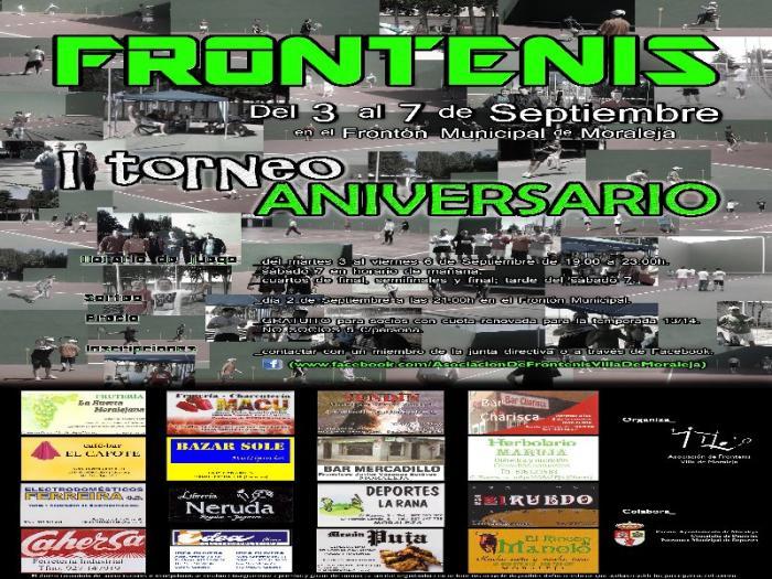 La localidad de Moraleja acogerá la semana que viene el I Torneo Aniversario de frontenis