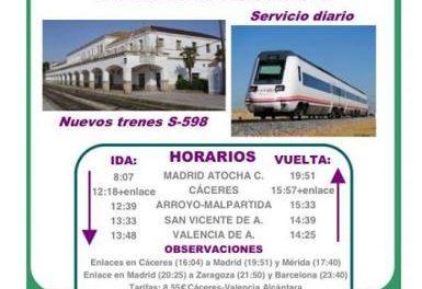 El Ayuntamiento de Valencia de Alcántara inicia una campaña para impulsar el uso del tren