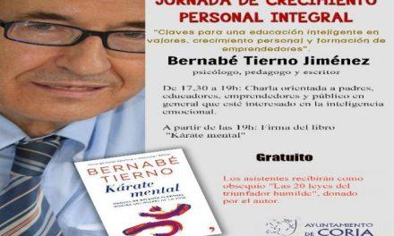 El psicólogo Bernabé Tierno ofrecerá en Coria el día 17 una charla sobre inteligencia emocional