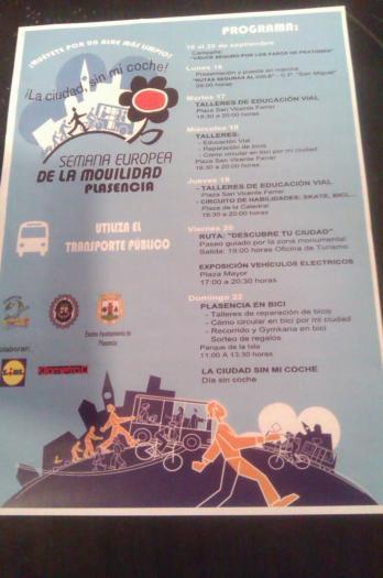 Plasencia celebrará del 16 al 20 de septiembre la Semana Europea de la Movilidad con talleres de educación vial