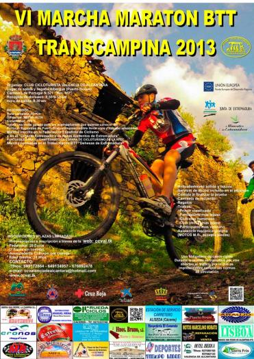 Valencia de Alcántara acogerá el 6 de octubre la Ruta Trancampiña en bicicleta todoterreno