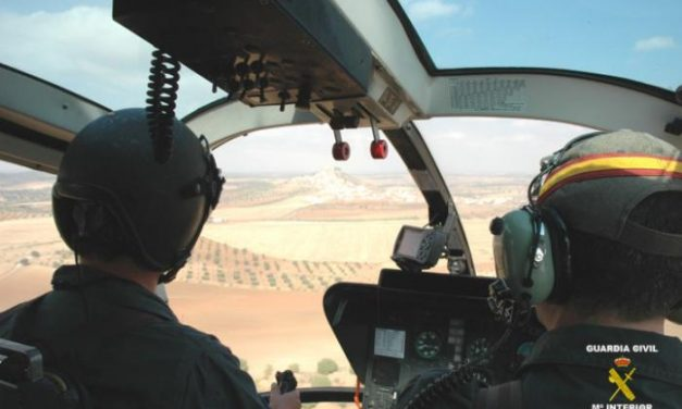 La Guardia Civil desmantela cinco puntos de plantación de marihuana con el apoyo de un helicóptero