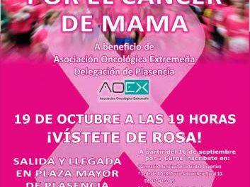La Asociación Oncológica anima a los placentinos a participar en la Marcha Rosa contra el cáncer de mama