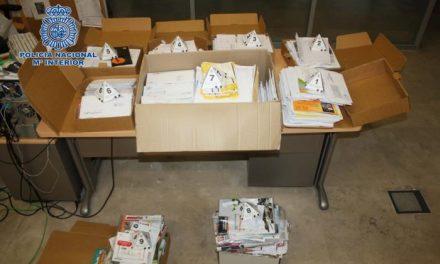 La Policía Nacional detiene a un cartero en Plasencia por apoderarse de 2.274 cartas y diversa correspondencia
