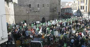 Los ganaderos se manifiestan en Mérida para pedir soluciones reales a la Junta de Extremadura