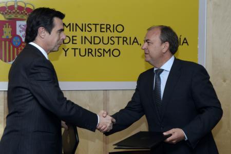 Monago y Soria firman un protocolo para impulsar las tecnologías en sanidad y en educación en Extremadura