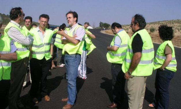 Las obras de mejora de la carretera EX-109 acabarán quince meses antes de la fecha prevista