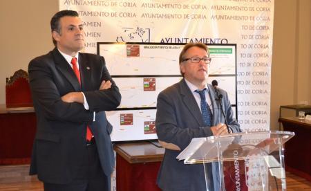El consejero de Fomento presenta inversiones por importe de 2,3 millones de euros en Coria