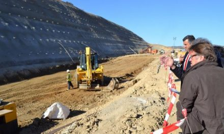Del Moral visita las obras de la EX-A1 y anuncia la inversión de 14,5 millones en la autovía en 2014