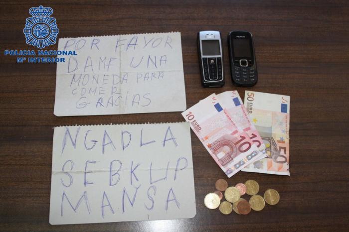 La policía detiene a una pareja que robaba al descuido disimulando que eran mendigos y pedían limosna