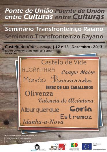 Castelo de Vide acogerá del 12 al 13 de diciembre el I Seminario Rayano «Puente de Unión entre Culturas»