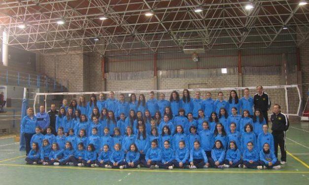 El pabellón municipal de Coria acoge la presentación de los equipos del Club Voleibol Coria