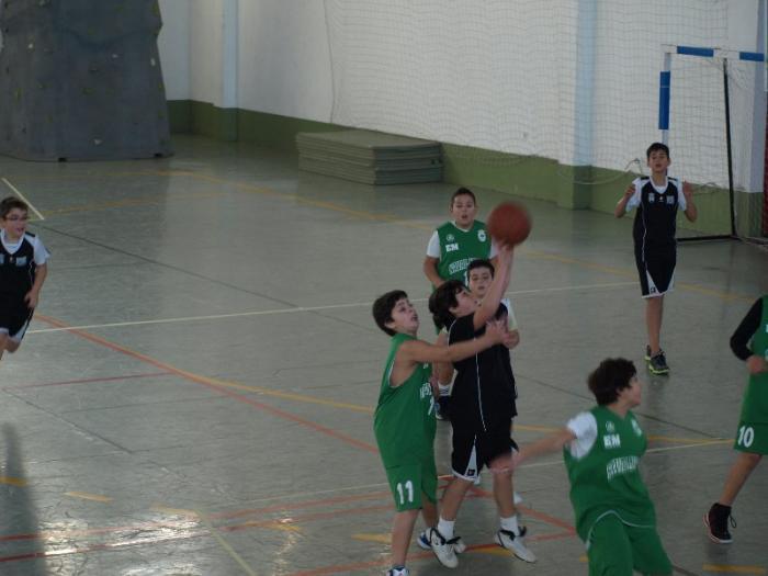 Más de 70 niños se dan cita  en la concentración de baloncesto de base de Moraleja