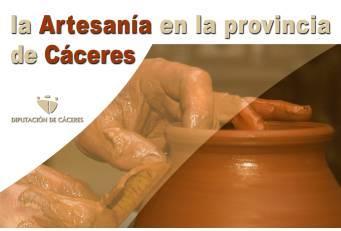 La Diputación de Cáceres promociona la Red de Centros de Artesanía a través de unos folletos informativos