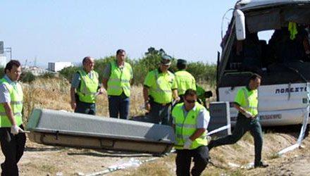 Condenan al conductor del autobús accidentado en Miajadas en 2009 que ocasionó tres muertos