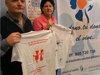 La ruta senderista Peñas Blancas dedicada este año a promover la donación de órganos en Extremadura