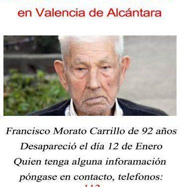 """La búsqueda del anciano de Valencia de Alcántara se centrará en """"El Palancar"""" """"Huerta Chica"""" y  """"La Pancha"""""""