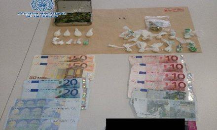 Agentes de Policía Nacional detienen en Cáceres a dos jovenes por un delito de tráfico de drogas