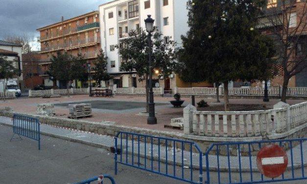 Las obras de remodelación de la Plaza de la Paz de Coria contribuirán a crear una nueva imagen de la localidad