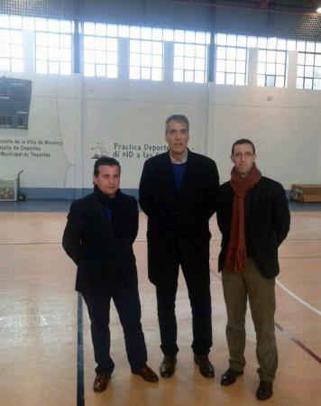 El director general de Deportes visita las obras de mejora en instalaciones deportivas de Moraleja