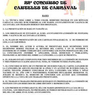 El Ayuntamiento de Valencia de Alcántara abre el plazo de presentación al Concurso de Carteles de Carnaval