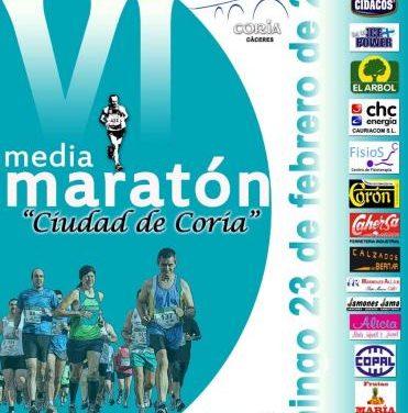 Coria celebrará la V Edición de la Media Maratón Ciudad de Coria el próximo 23 de febrero