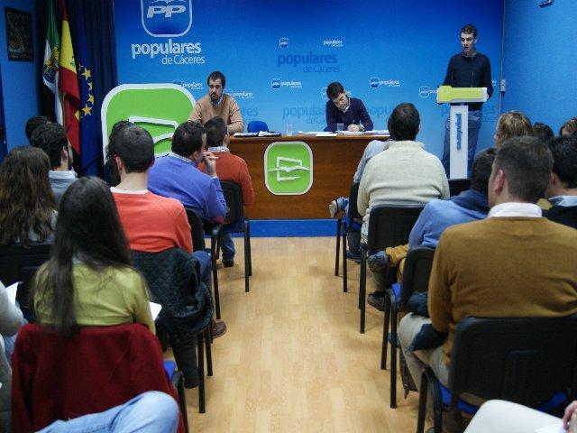 Nuevas Generaciones de la Provincia de Cáceres centra su mirada en las elecciones europeas