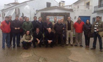 El Grupo Popular de la Diputación de Cáceres recoge propuestas de los dirigentes de Sierra de San Pedro