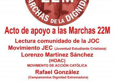Javier Couso participará este sábado en Plasencia en un acto de apoyo a las Marchas de la Dignidad