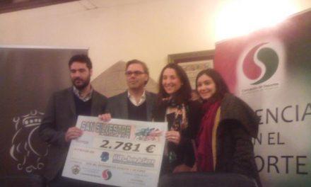AFADS Norte de Cáceres recibe casi 3.000 euros recaudados en la San Silvestre placentina