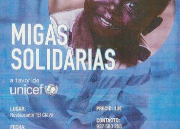 Unicef organiza un almuerzo solidario en favor de los más necesitados en Valencia de Alcántara