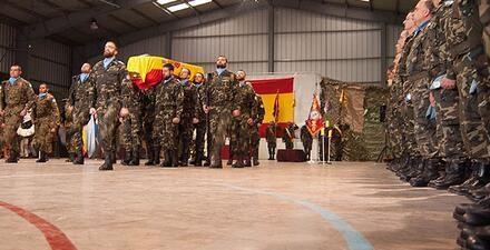 El féretro con los restos mortales de Abel García llegará hoy a la Base Aérea de Talavera la Real