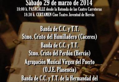 Hervás acogerá el día 29 el II Certamen de Bandas de Semana Santa a beneficio de la asociación de Alzhéimer