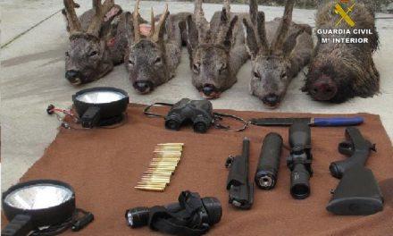 La Guardia Civil detiene en Plasencia a cinco personas por un delito de furtivismo con trofeos de corzo y jabalí