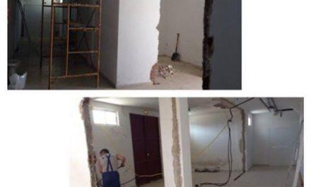 Arrancan las obras para mejorar el estado del gimnasio municipal de Valencia de Alcántara