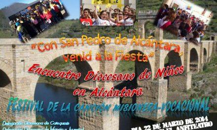 """Alcántara acogerá el encuentro diocesano de la infancia """"Juan Pedro de Alcántara, venid a la fiesta"""""""
