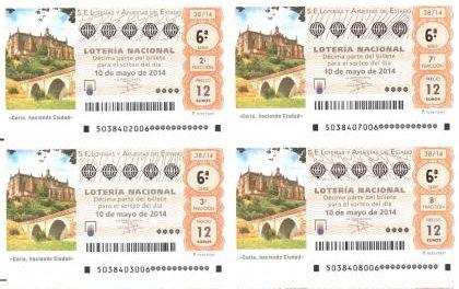 Loterías y Apuestas del Estado pone a la venta el décimo dedicado al patrimonio de Coria