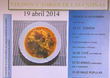 La Asociación Sociocultural Vecinos y Amigos de Las Casiñas organiza las V Jornadas Gastronómicas