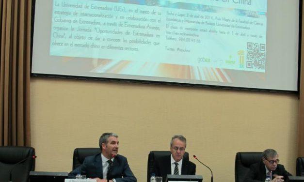 La Jornada 'Oportunidades de Extremadura en China' reúne a 144 participantes en la universidad