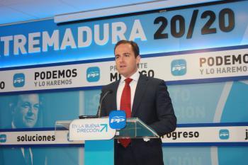 Los populares destacan el cambio registrado en Extremadura desde que gobierna Monago