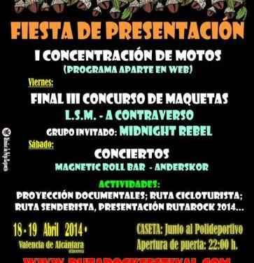 Valencia de Alcántara acoge una concentración motera como presentación del V Festival Rutarock